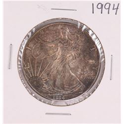 1994 $1 American Silver Eagle Coin Nice Toning