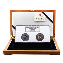 2009 Proof Isle of Man 1/4 oz Angel vs Dragon Gold Coin Sent NGC Gem Proof w/Box & COA