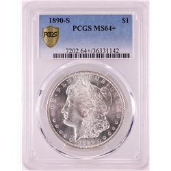 1890-S $1 Morgan Silver Dollar Coin PCGS MS64+