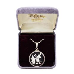1987 Disney Pendant & Chain Steamboat Willie 1/4 oz .999 Fine Silver Medal