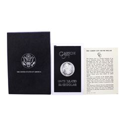 1883-CC $1 Morgan Silver Dollar Coin GSA Hoard Uncirculated with Box