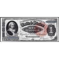 1886 $1 Martha Washington Silver Certificate Note