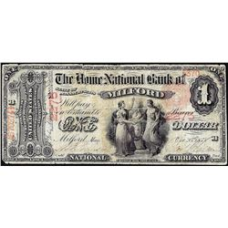 1875 $1 National Bank of Milford, MA CH# 2275 National Currency Note