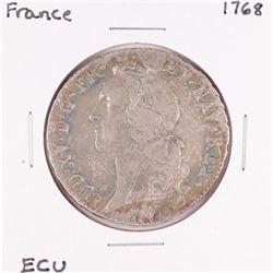 1768 France Louis XV ECU Silver Coin