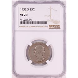 1932-S Washington Quarter Coin NGC VF20