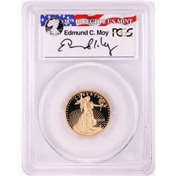 2015-W $10 Proof American Gold Eagle Coin PCGS PR70DCAM Moy Signature FDOI Washington