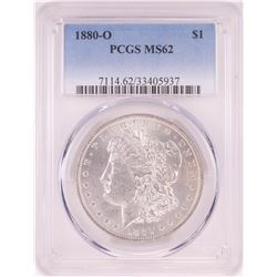 1880-O $1 Morgan Silver Dollar Coin PCGS MS62