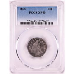 1875 Twenty Cent Piece Coin PCGS XF40