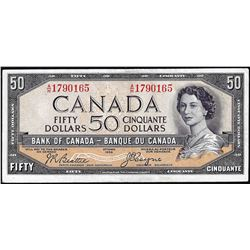 1954 $50 Bank of Canada Note Devil's Face