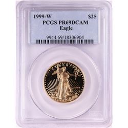 1999-W $25 Proof American Gold Eagle Coin PCGS PR69DCAM