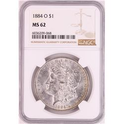 1884-O $1 Morgan Silver Dollar Coin NGC MS62 Nice Toning