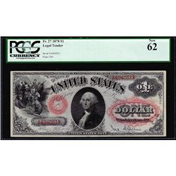 1878 $1 Legal Tender Note Fr.27 PCGS New 62