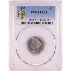 1887 Proof Liberty Head V Nickel Coin PCGS PR65