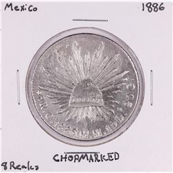 1886 Mexico 8 Reales Silver Coin Chopmarked