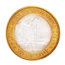 .999 Silver Rio Suite Hotel & Casino Las Vegas, NV $10 Limited Edition Gaming Token