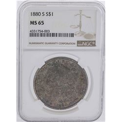 1880-S $1 Morgan Silver Dollar Coin NGC MS65