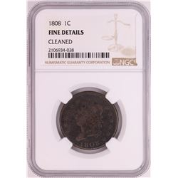 1808 Classic Head Large Cent Coin NGC Fine Details