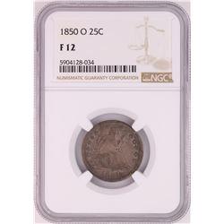 1850-O Seated Liberty Quarter Coin NGC F12