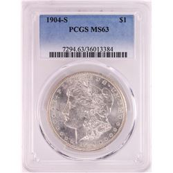 1904-S $1 Morgan Silver Dollar Coin PCGS MS63