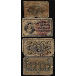 Lot of (4) Miscellaneous Fractional Currency Notes