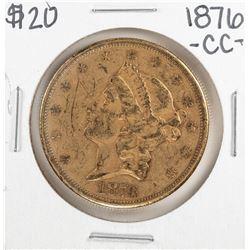 1876-CC $20 Liberty Head Double Eagle Gold Coin