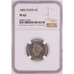 1883 with Cents Proof Liberty V Nickel Coin NGC PF62