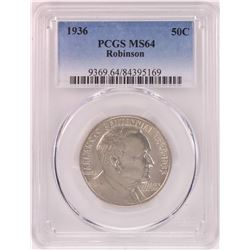 1936 Robinson Arkansas Centennial Commemorative Half Dollar Coin PCGS MS64