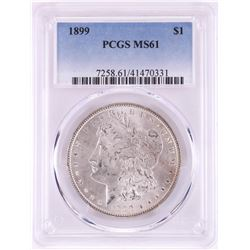 1899 $1 Morgan Silver Dollar Coin PCGS MS61