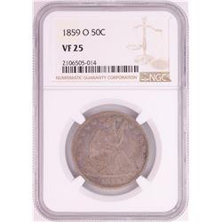 1859-O Seated Liberty Half Dollar Coin NGC VF25