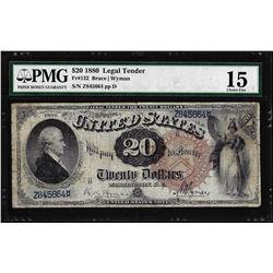 1880 $20 Legal Tender Note Fr.132 PMG Choice Fine 15