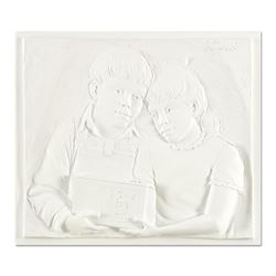 """Bill Mack """"Sharing"""" Limited Edition Monotype Relief Sculpture"""