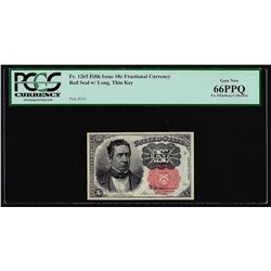 1874 Fifth Issue Ten Cent Fractional Currency Note Fr.1265 PCGS Gem New 66PPQ