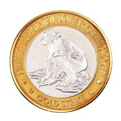 .999 Fine Silver Gold Strike Jean, Nevada $10 Limited Edition Casino Gaming Token