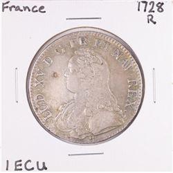 1728R France 1 ECU Silver