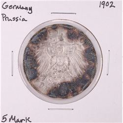 1902 Germany Prussia 5 Mark Silver Coin