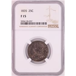 1835 Capped Bust Quarter Coin NGC F15