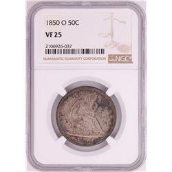 1850-O Seated Liberty Half Dollar Coin NGC VF25