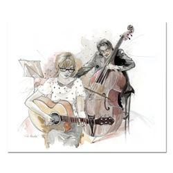 "Lena Sotskova ""With Maestro"" Original Mixed Media on Paper"