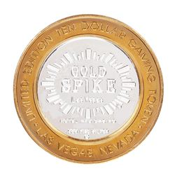 .999 Silver Gold Spike Las Vegas, Nevada $10 Casino Limited Edition Gaming Token