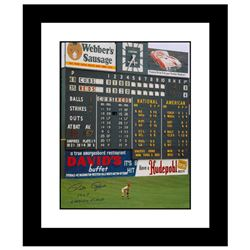 """Pete Rose """"Rose in Outfield at Crosley"""" Framed Archival Photograph"""