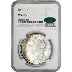 1881-S $1 Morgan Silver Dollar Coin NGC MS62* Star CAC