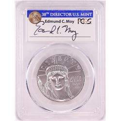 2017 $100 American Platinum Eagle Coin PCGS MS70 Edmund Moy Signature First Strike