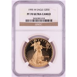 1995-W $50 Proof American Gold Eagle Coin NGC PF70 Ultra Cameo