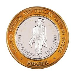 .999 Silver Pioneer Hotel & Gambling Hall $10 Casino Limited Edition Gaming Token