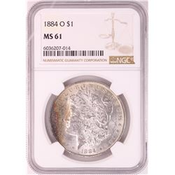 1884-O $1 Morgan Silver Dollar Coin NGC MS61 Nice Toning