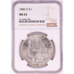 1889-O $1 Morgan Silver Dollar Coin NGC MS63