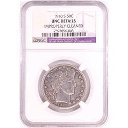 1910-S Barber Half Dollar NGC Coin UNC Details