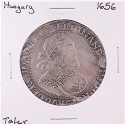 1656 Hungary Kingdom Taler Ferdinand III Silver Coin