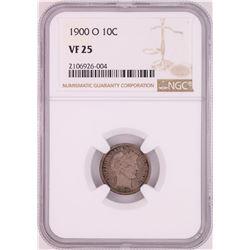 1900-O Barber Dime Coin NGC VF25