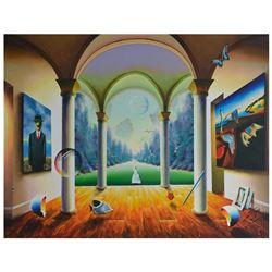 """Ferjo """"Sweet Garden Freedom"""" Original Oil On Canvas"""
